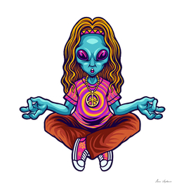 hippie alien yoga