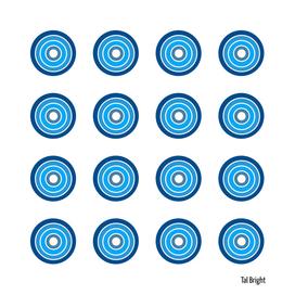 Blue Retro Style Circle Pattern