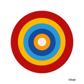 Colourful modern abstract circles