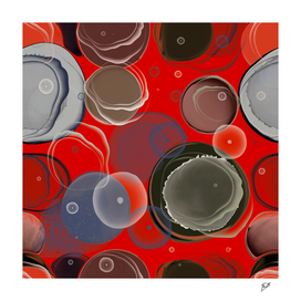 Red alcohol ink art