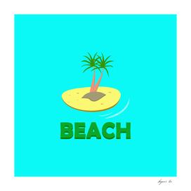 beach, tropical island