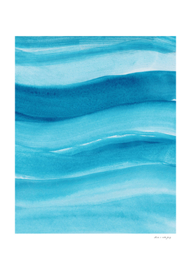 Watercolor Ocean Waves #1 #minimal #painting #art