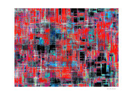 geometric art texture abstract background in red blue