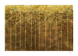 Gold Birch I Dancing