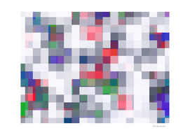 geometric square pixel pattern abstract in red purple green