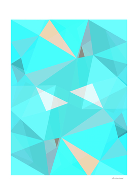 geometric triangle shape abstract background in blue