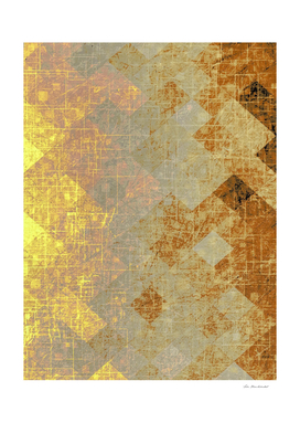 geometric square pixel pattern abstract background in brown