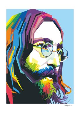 John Lennon in Pop art style
