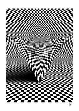 Triangle with checkered lines