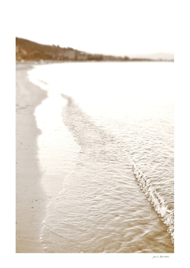 Minimalist pastel beach scape
