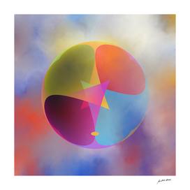 Digital Art-Geometric composition-4269 N Copyright