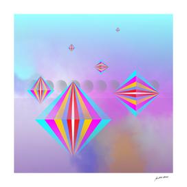 Digital Art-Geometric composition-4283 N Copyright