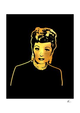 Lucille Ball | Lucy | Gold Series | Pop Art