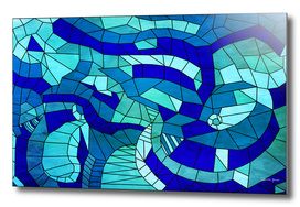 3D Blue Geometry