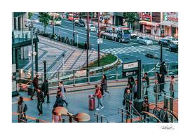 Crowded Urban Scene, Osaka Japan