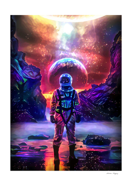 Cosmic Colorful Spaceman