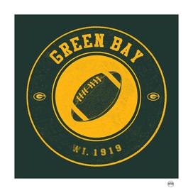 Green Bay football vintage logo green