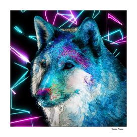 Wolf Nature Animal Street Art retro