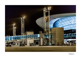 Montevideo Airport Night Scene, Uruguay