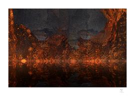 Reflection   Burning Mountain