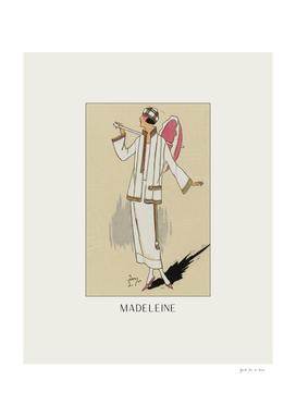 Madeleine - Bohemian, art deco, fashion print
