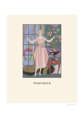 Pompadour - Royalty, fashion, chic, Art Deco print