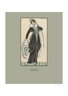 Faux - Fashion, chic, boho, folk, Art Deco print