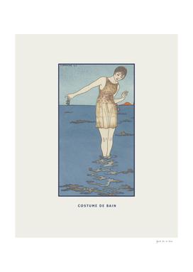 Costume de bain - Ocean, summer, boho, Art Deco print