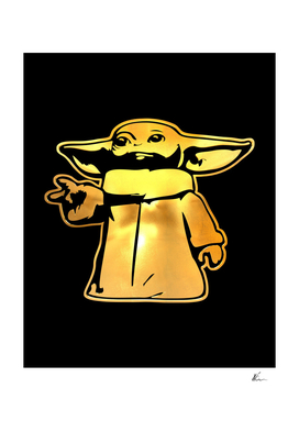 Grogu | Baby Yoda | Gold Series | Pop Art