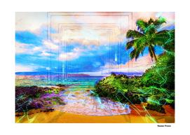 Landscapes Beach Nature Sea Sun - Colored