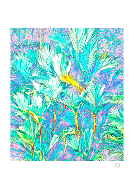 Palm Garden, Tropical Nature Jungle Painting