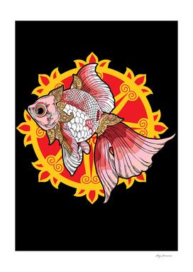 Pink Fish Balinese Art