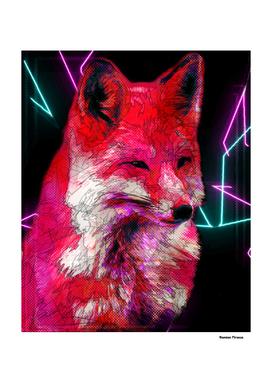 Fox Animals Nature - Colored Neon