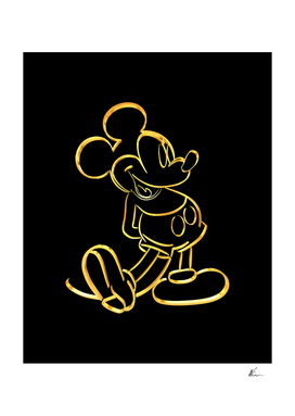 Mickey Mouse | Gold Series | Pop Art