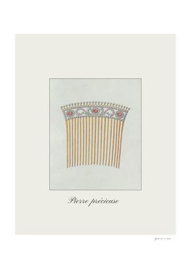Pierre précieuse - vintage jewelry fashion, boho print