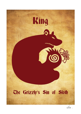 King Grizzly's Sin of Sloth  tattoo