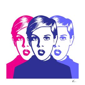 Triple Twiggy   Pop Art