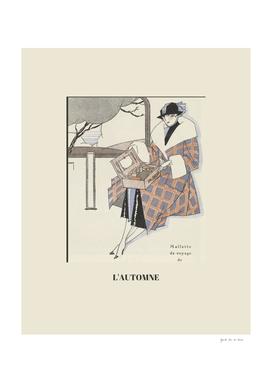L'automne - Chic Art Deco Fashion Print