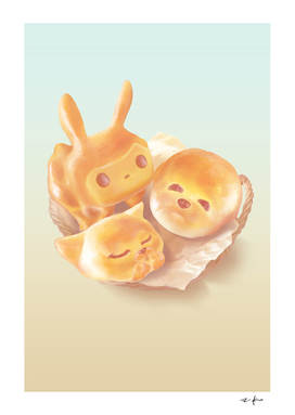 Adorable Animal Shaped Bread