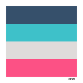 Blue and pink abstract minimal stripes