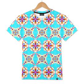 Exotic Tiles, Moroccan Teal Kaleidoscope Pattern