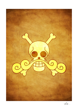 One piece roger pirates jolly roger flag symbol logo
