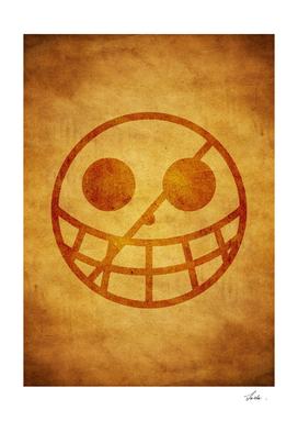 One piece donquixote pirates jolly roger flag symbol logo