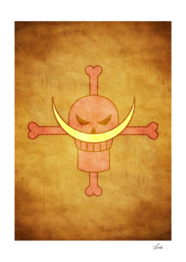 One piece shirohige pirates jolly roger flag symbol logo