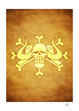 One piece beasts pirates jolly roger flag symbol logo