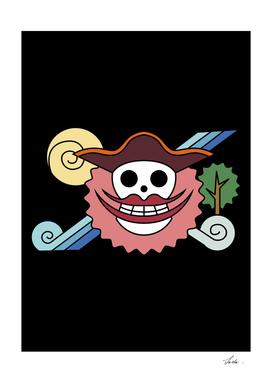 One piece big mom pirates jolly roger flag symbol logo