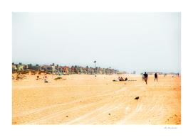 Sandy beach scenic at Oxnard Beach California USA