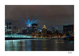 Lockdown lights Montreal