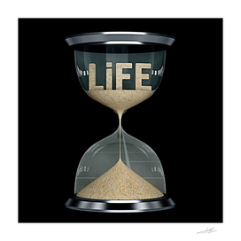 life time concept flows away like sand