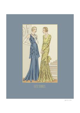 Les soirs - Haute couture, Art Deco, 1920s vintage